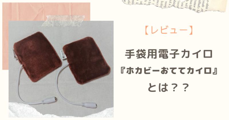 手袋用電子カイロ『ホカビーおててカイロ』とは??